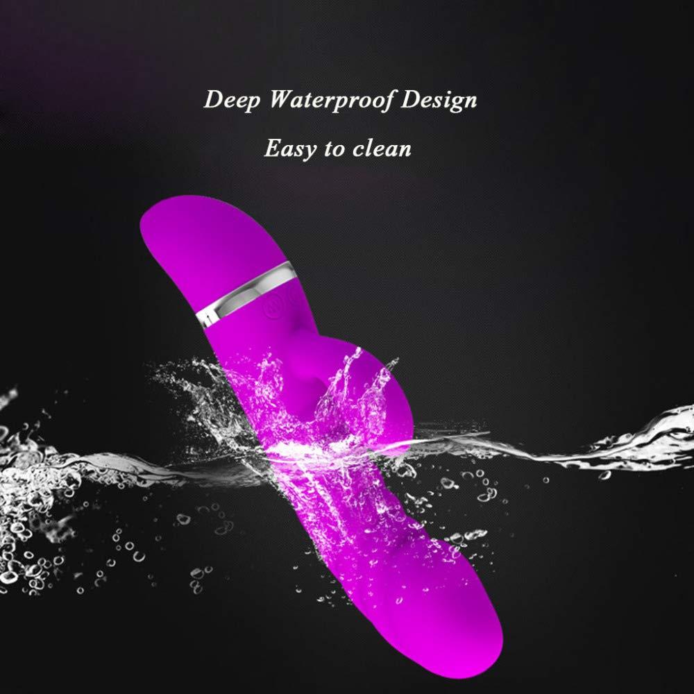 HGUIAZ Vibrador De Punto Realistas G Realistas Punto para Mujer Diseño De Doble Motor 7 Frecuencias,Plugs En Juguetes Eróticos,Alimentado por Batería (sin Batería),Purple fead49