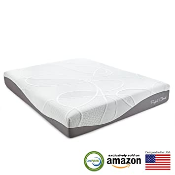 perfect cloud ultraplush gelmax 10 inch memory foam mattress queen size - Queen Size Memory Foam Mattress