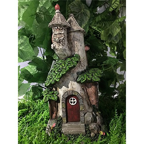 Hi-Line Gift Ltd Fairy Garden Castle with Solar LED Lights (Ltd Garden)