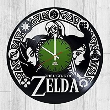 Amazoncom Decorative Vinyl Record Wall Clock Zelda Design Home