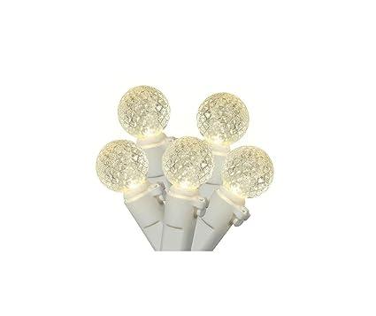 Amazon.com : Set of 50 Warm White LED G12 Berry Christmas Lights 4 ...