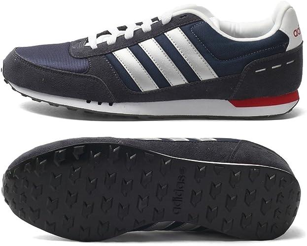 adidas Neo City Racer, Chaussures Homme, Bleu MarineBlanc