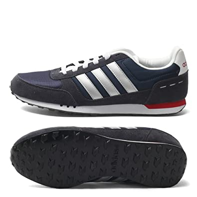 adidas Neo City Racer, Chaussures Homme, Bleu MarineBlanc