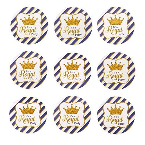 Crown Royal Label - Homeford FMK0000ST102424B Glitter Royal Crown Seal Paper Stickers, 1