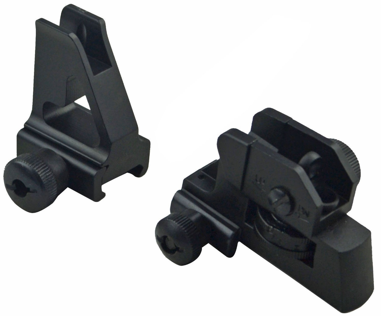 MUDCAT Outdoors Iron Sights Match Grade Model 4/15 Rear & High Profile Front Sight Gas Block, DPMS Oracle by GBO (Image #1)
