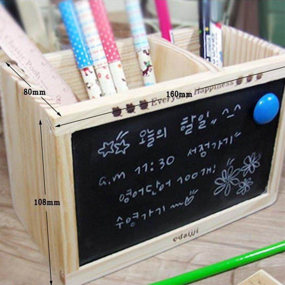 MoGist Portapenne Creativo Design Piccola Lavagna Multiuso Portapenne da Tavolo Organizer Scrivania Organizer Make Up Portapenne Box