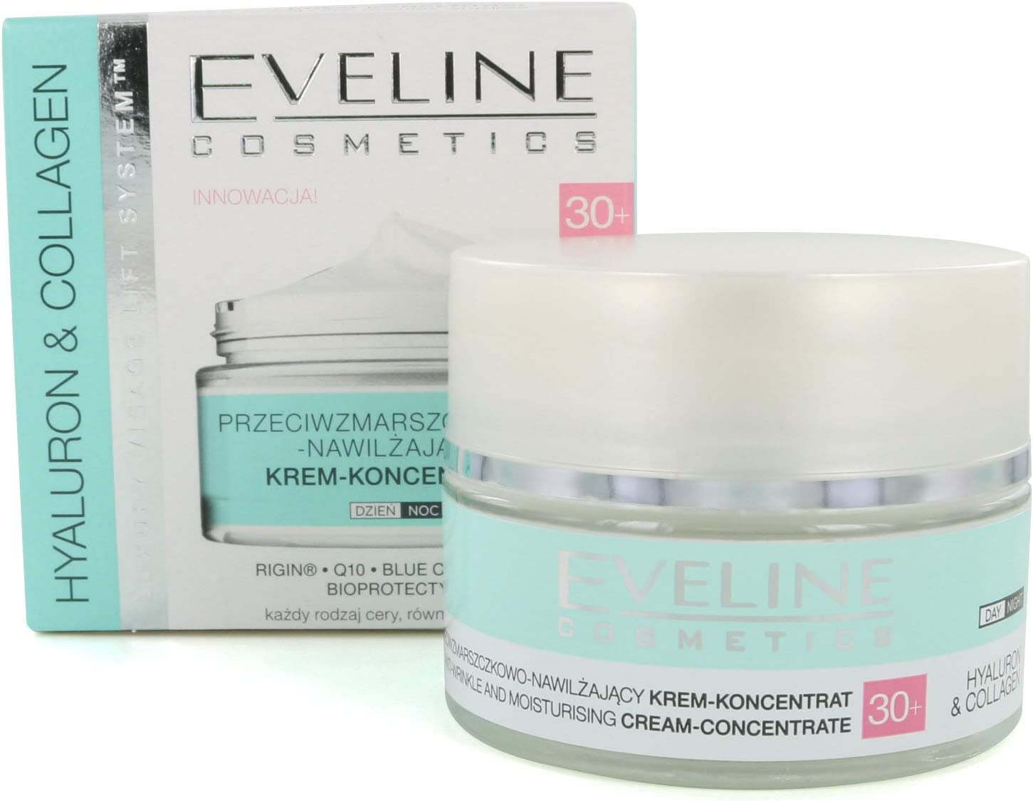 Eveline HYALURON & COLLAGEN Crema facial antiarrugas – Concentrado 30+ 50 ml