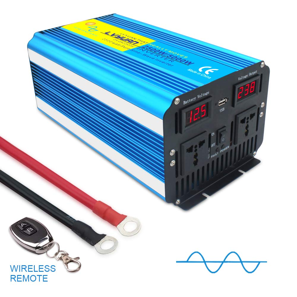 4000W DC 12V to AC 230V//240V converter with wireless remote control dual AC outlets /& USB for RV Truck Car SUDOKEJI Pure Sine Wave Inverter Power Inverter 2000W