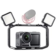 Prevently New DSLR Video Rig Cage Handheld Phone Vlog Stabilizer for DJI OSMO Action Camera