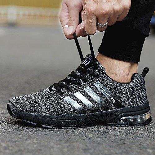 Mode Herren Schwarz Laufschuhe Sneaker Herren Sport Outdoor MUOU Schuhe Schuhe Turnschuhe Breathable T5z171qw