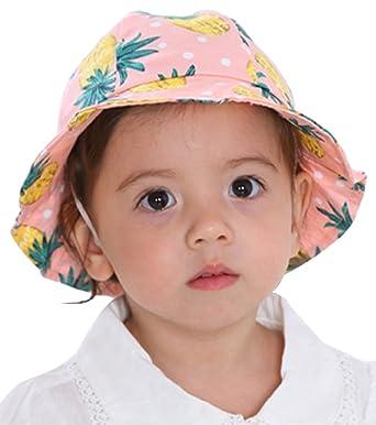 GEMVIE Bonnet Chapeau Bob Enfant Bébé Fille Garçon Printemps Été Salaire d13f229678a