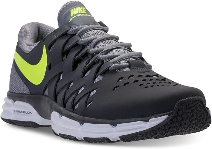 Nike Men's Lunar Fingertrap TR Dark GreyVolt Stealth Ankle
