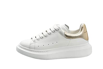 Amazon.com | -Alexander McQueen Women's&Men's White\Gold ...