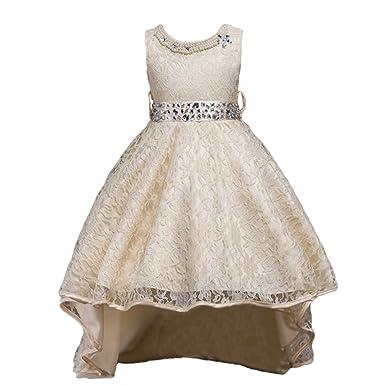 13caa09b2957f WanYang Les Enfants Gaze Robe Dentelle Fille Haut De Gamme Longueur  Irrégulière Jupe Costumes De Robe