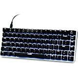 AJAZZ AK33 Mechanical Gaming Keyboard Backlit Wired USB PC Computer Keyboard 82 Keys with Blue Axis for Home / Office / Game Black