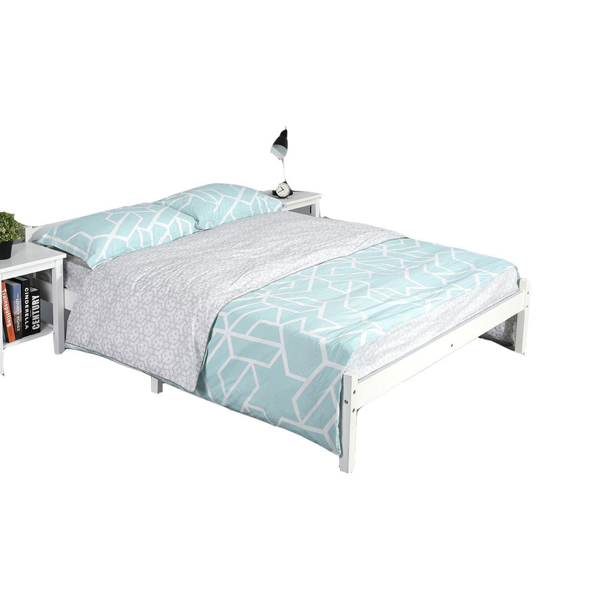 DORAFAIR 3ft Single Bed Frame in Natural Wood,Strong Structure Solid Pine Wood Single Bed Frame for Adult Kids Child or Children, fit 90 * 190 Mattress
