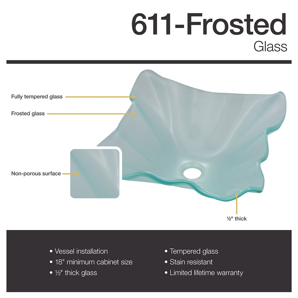 611 Frosted Glass Vessel Sink by MR Direct (Image #2)