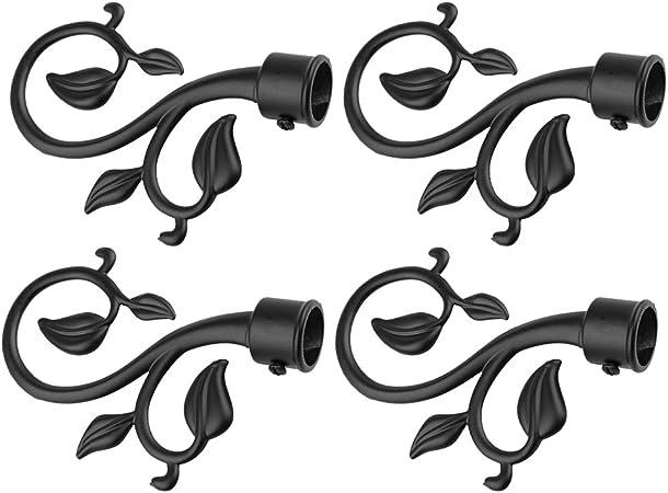 Sharplace 4pcs Embout de Tringle /à Rideau Motif Branche D/écor pour Maison H/ôtel Magasin Noir