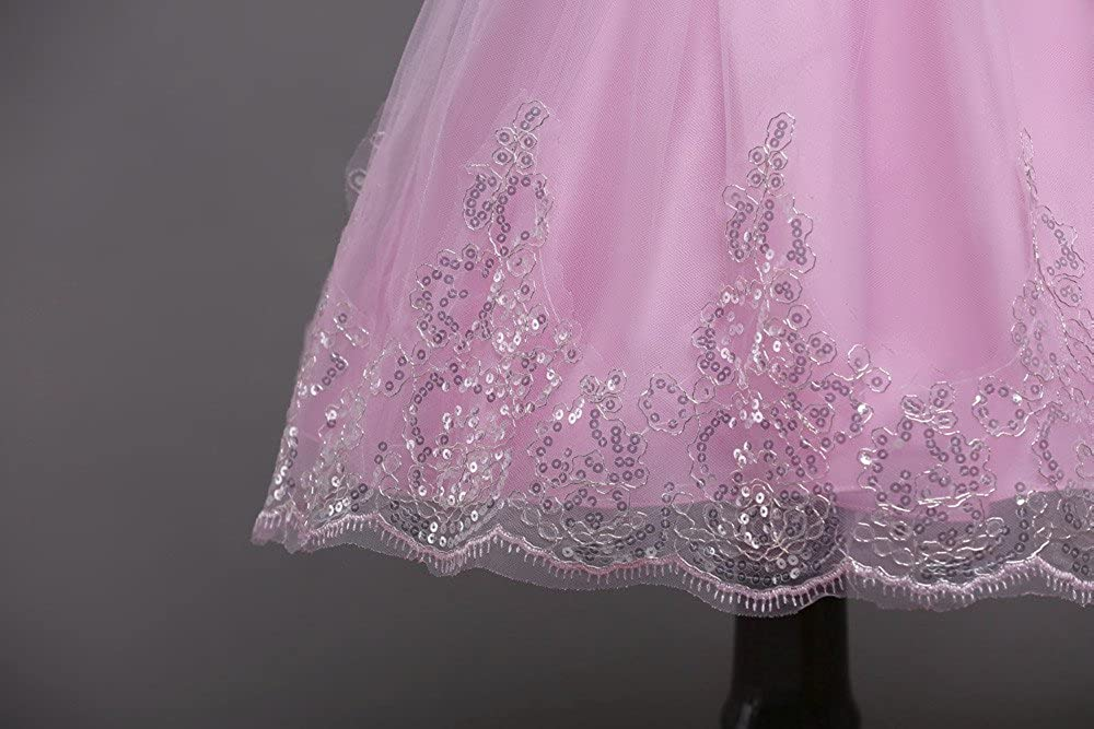 Kid Toddler Sleeveless Lace 3D Flower Tutu Holiday Princess Dresses Christmas Birthday Party Kehen Girl Wedding Dress