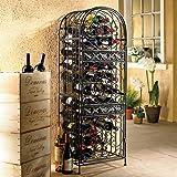 45-Bottle Renaissance Wrought Iron Wine Holder Stand, Sophisticated Wine Storage