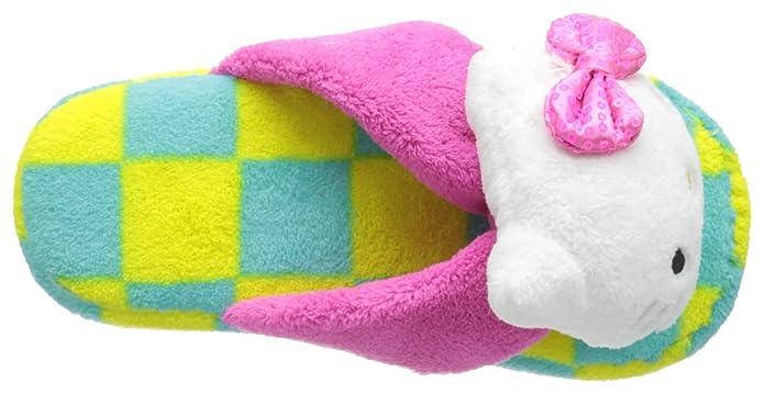 Amazon.com: Hello Kitty Mujer Plush Checkered tira Slipper ...