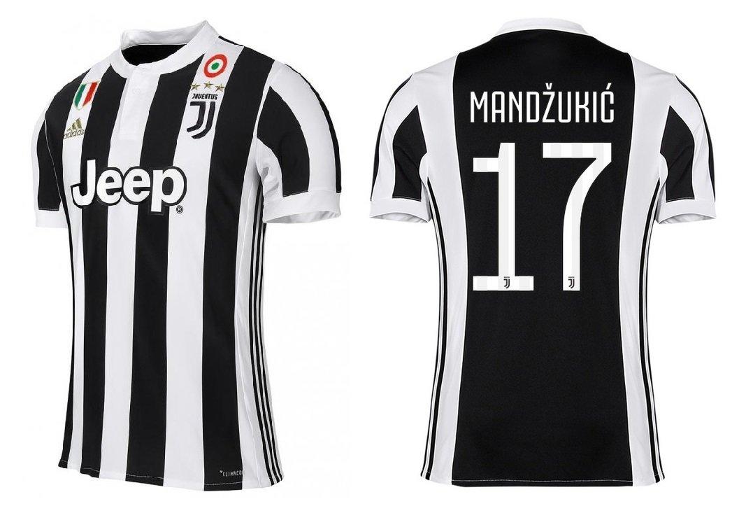 Juventus Turin Trikot Kinder 2017-2018 Home CS - Mandzukic 17
