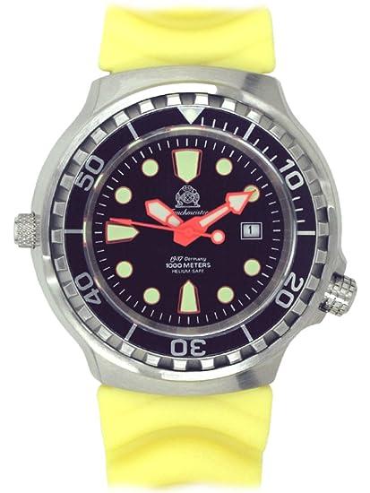 alemán automática Diver reloj de Tauchmeister 1000 M sapphireglass t79-y