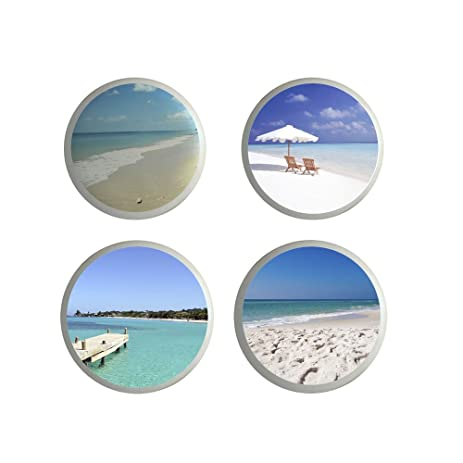 beach life drawer pull knobs ocean ceramic kitchen knobs cabinet set of 4