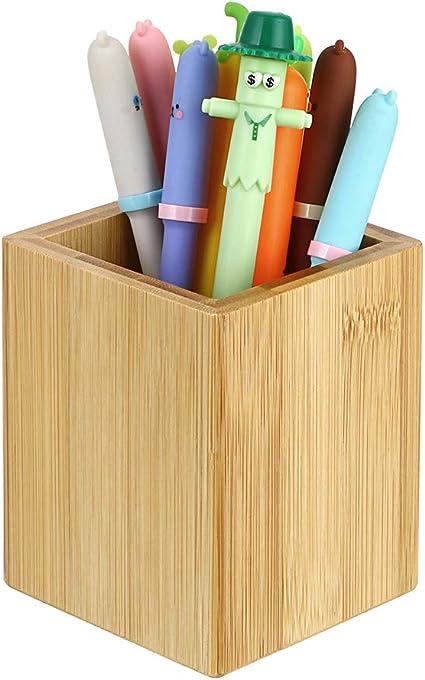 Toyvian organizer per penne e matite porta pennelli da trucco colore bianco