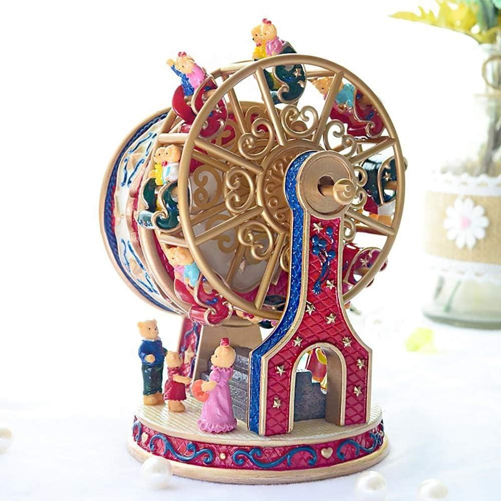 rotierendes Riesenrad Niedliche B/ären-Spieluhr Sch/önes Musical NQXXN Spieluhr kreatives Geburtstagsgeschenk f/ür Freundinkinder zu Weihnachten//Geburtstag//Valentinstag