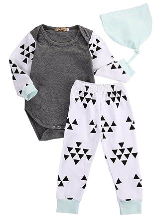 Amazon Com 3pcs Newborn Infant Kids Baby Boy Girl Clothes Tops