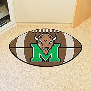 Fanmats Marshall Thundering Herd football-shaped alfombrillas