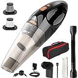 DOFLY Aspiradora de Mano sin Cable Potente, Aspirador de Coche de 12V 120W 8500PA, Luz LED, Filtro Lavable, Aspiradora…