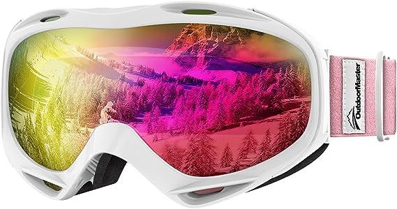 OutdoorMaster OTG Ski Goggles - Over Glasses Ski/Snowboard Goggles for Men