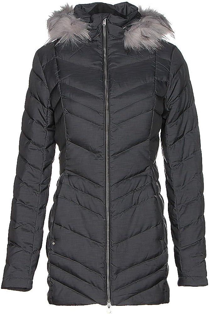 Spyder Womens Timeless Long Down Faux Fur Overcoat