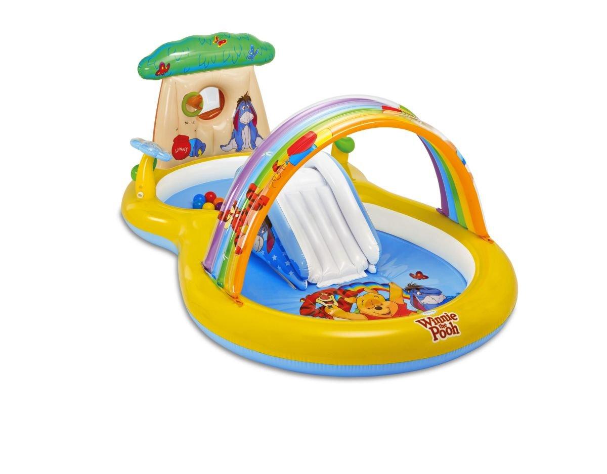 Winnie the Pooh Pool Planschbecken Spielcenter Winnie Pooh Rutsche Wassersprüher 282x173x107cm