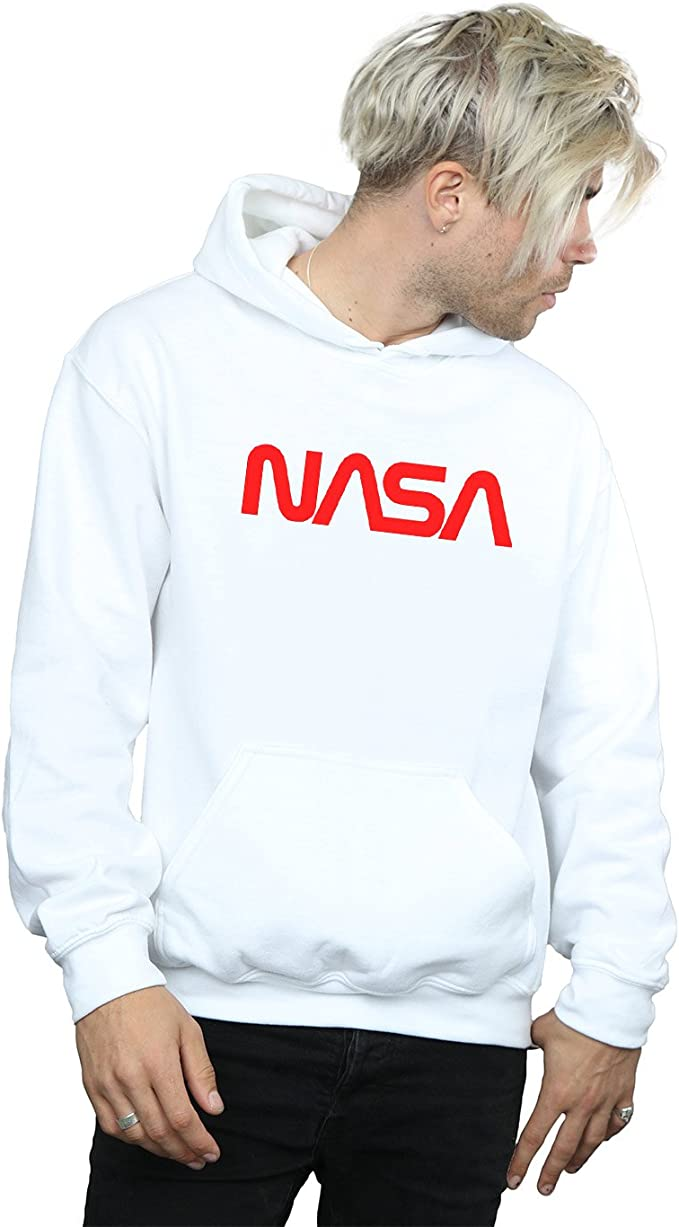 Absolute Cult NASA Homme Modern Logo Sweat À Capuche