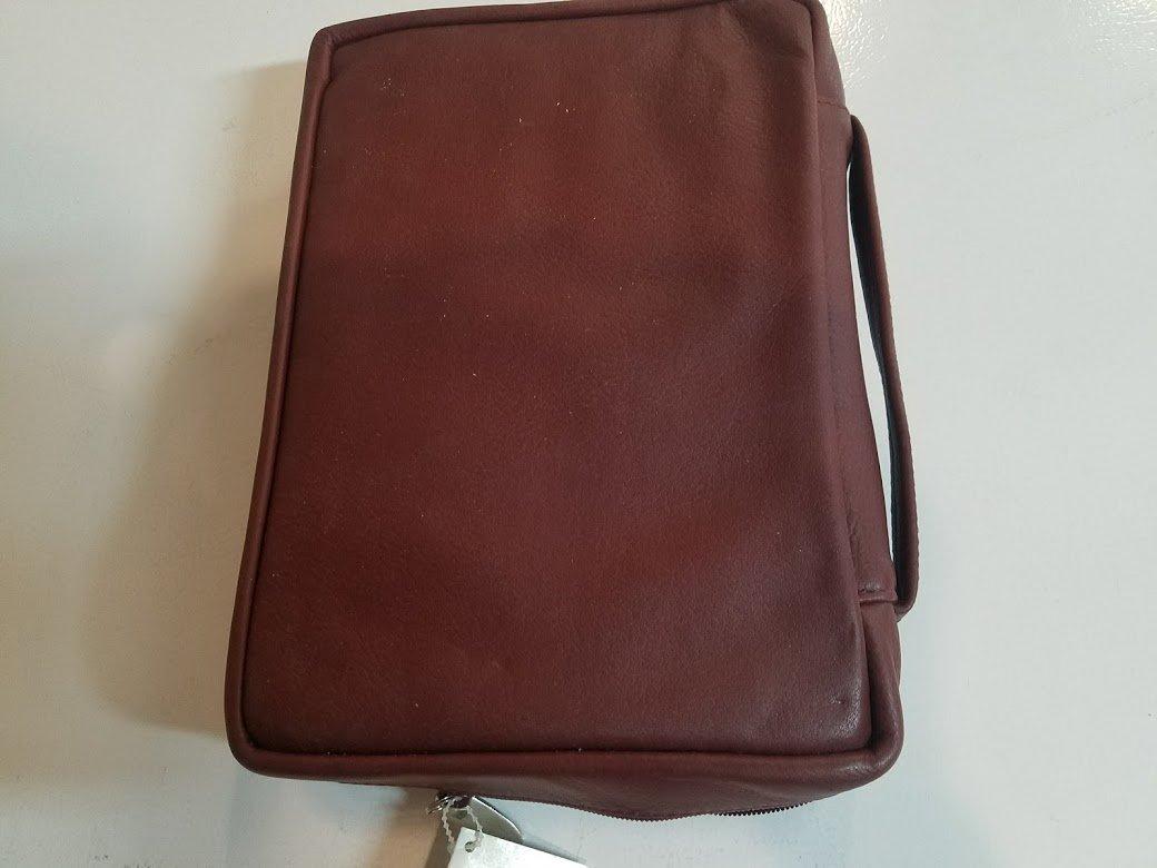 Bible Cover: XXLarge IISB Leather Burgundy