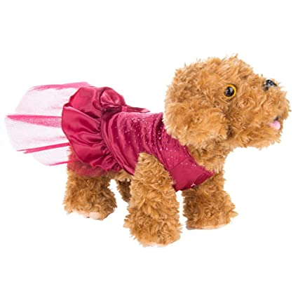 477abe5062 Amazon.com   ECCRIS Red Sequin Princess Pet Dress