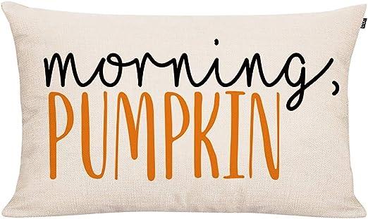 morning pumpkin pillow cover