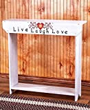 Country Sentiment Live Laugh Love Console Table