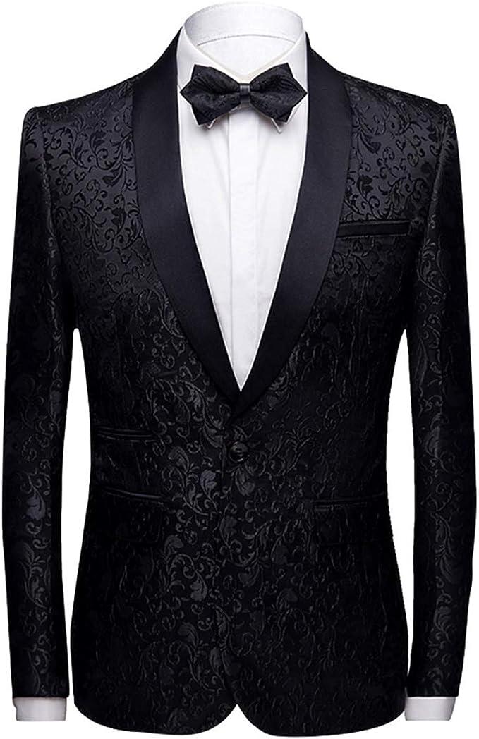 Amazon.com: Chamarra de vestir para hombre con estampado ...