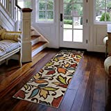 Carolina Weavers Indoor/ Outdoor Desiree Ivory Runner (2 3 x 8 )