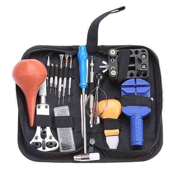 16 PCS Reloj Juego de herramientas profesional Reloj de pulsera Reparación Herramientas Kit Para Abrir Reloj