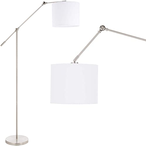 CO-Z Modern Arc Floor Lamp Hanging Over Couch