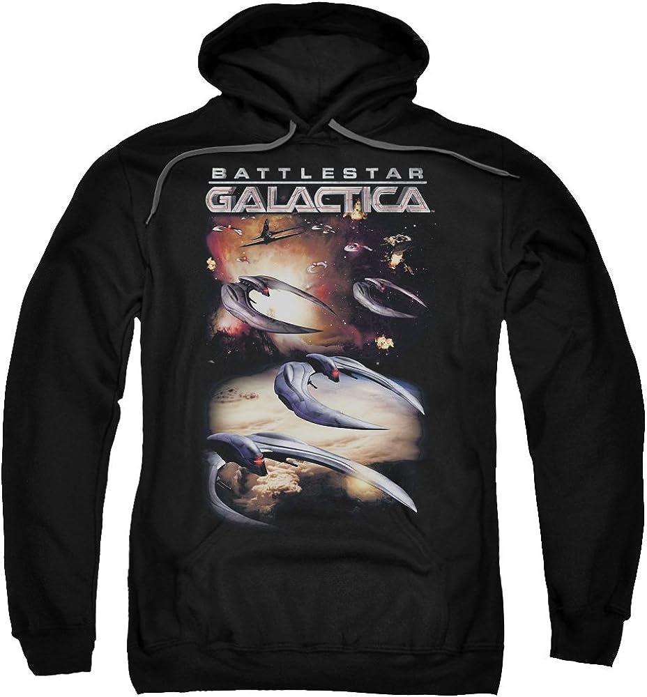 Battlestar Galactica Mens When Cylons Attack Pullover Hoodie