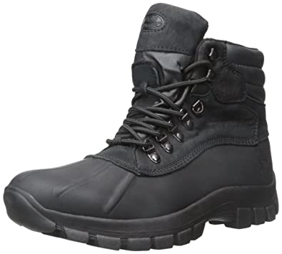 Men's Waterproof Leather Duck Boots Snow