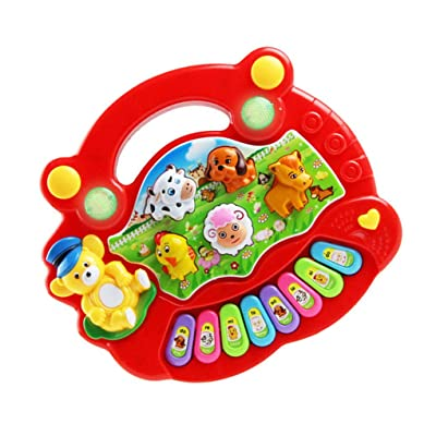 ebera Musical Instrument Toy Baby Kids Cartoon Development Toy Musical Instrument Toy,Baby Kids Farm Piano Developmental Music Educational Toys Children Gift: Home & Kitchen