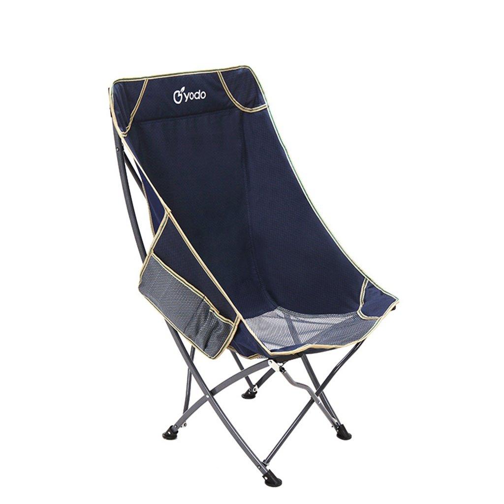 快適な釣りのシートバックパック折りたたみビーチアウトドアキャンプ旅行ハンティングポータブルラウンジチェア、ホールド100kg (色 : 青) B07D36QM38 青 青