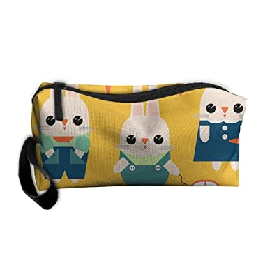 FourteenYeap Bunny Sunny Daybunny Sunny Day Travel Makeup Bag Storage Cosmetic Bag Pencil Pouch Toiletry Bag